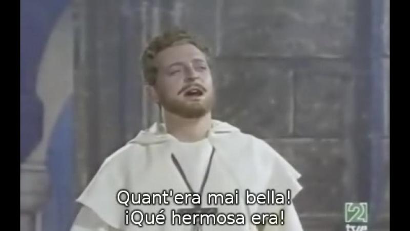 Alfredo Kraus - Una vergine un' angel di Dio - La Favorita - Donizetti (sub. español-italiano) de Gayarre (Viladomat, 1959)