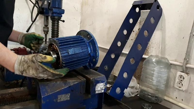 Замена подшипников на моторе сверлильного станка КАМУНАРУС 2М12