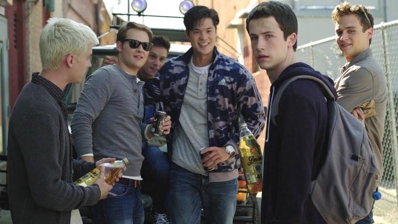 13 Reasons Why Clay and Alex drink beer Bryce Zach Justin Montgomery de la Cruz