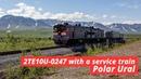2TE10U-0247 with a service train, Polar Ural