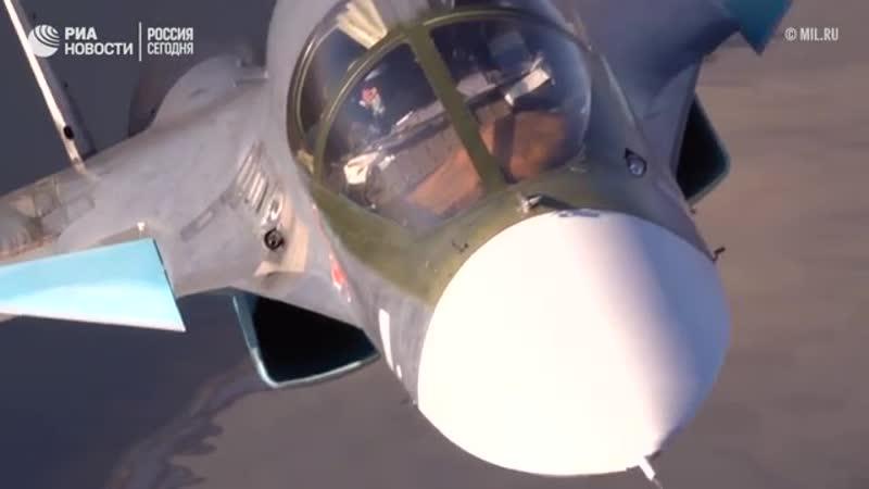 Воздушные тренировки летчиков Су-25 и Су-34