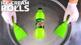 Energy Ice Cream Rolls | how to make Energy Drink rolled Ice Cream with Mountain Dew Recipe | ASMR