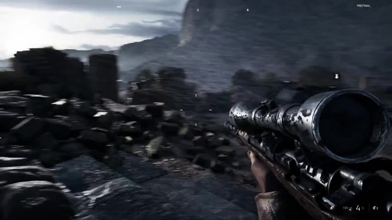 Battlefield 5 - использовани снайперского оружия в главе «Без знамён»