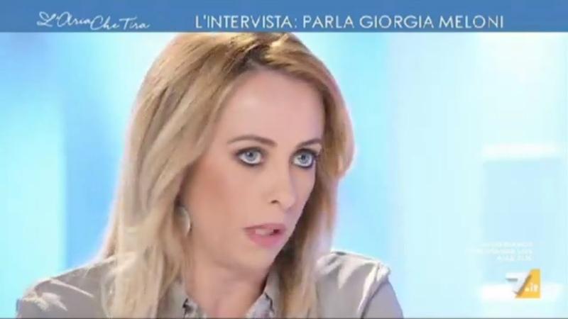 Giorgia Meloni — Intervista a L'aria che tira (14/09/2018)