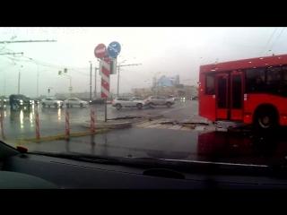 ДТП Ауди и автобус Казань