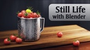 Still life image in Blender 3D / Cycles render. Time-lapse