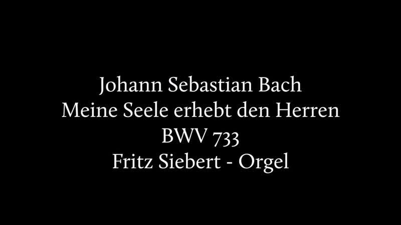 733 J. S. Bach (?) / J. L. Krebs - Meine Seele erhebt den Herren (Fuga sopra il Magnificat), BWV 733 - Fritz Siebert, Organ