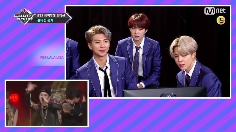 RUS SUB Рус саб Реакция BTS на дебютное выступление MCountdown EP 600 방탄소년단