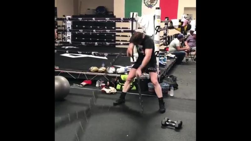 Подготовка Сауля Альвареса к матчу реваншу с GGG