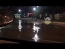 Гейзер на дороге в Иркутске