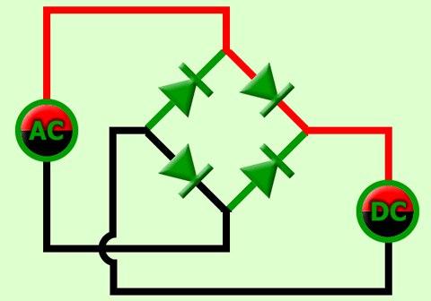 Схема диодного моста.
