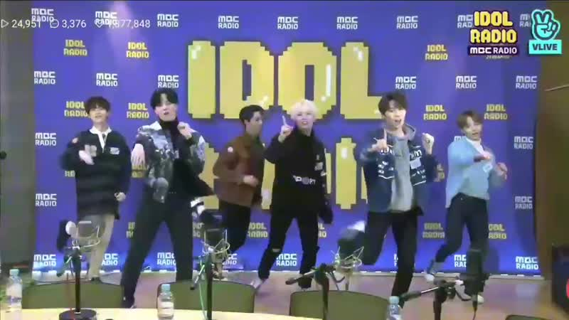 190114 ONEUS (Хванун) - Yes or Yes (Cover на TWICE) @ MBC Idol Radio