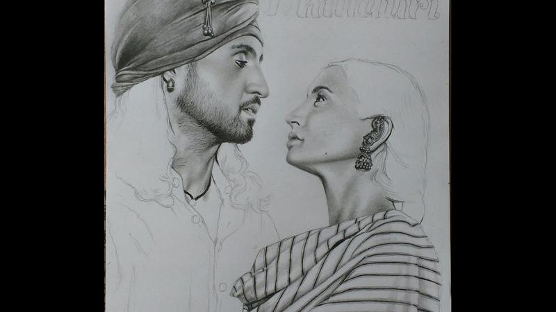 Phillauri poster pencil sketch by Shreya | Anushka Sharma | Diljit Dosanjh