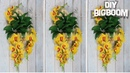 Stocking flowers making || Wall decoration at home | | Orchid 2018 | DBB