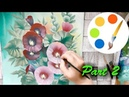 How to paint Malva by a flat brush how to paint flowers part 2