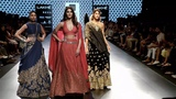 Vani Kapoor Walks For SVA By Sonam And Paras Modi FallWinter 201718 Lakme Fashion Week