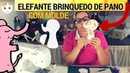 Brinquedo De Tecido Com Molde - Elefante Mordedor Chocalho Para O Bebê Em Tecido - Drica TV