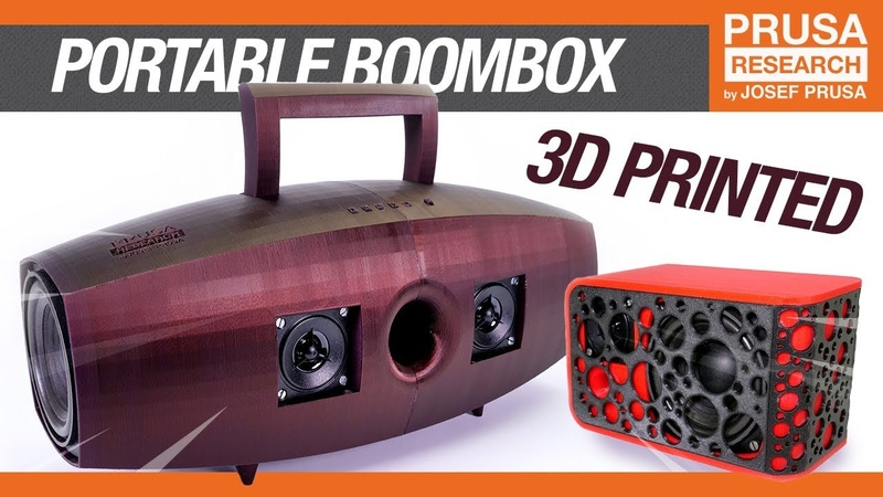 How to build a 3D printed boombox