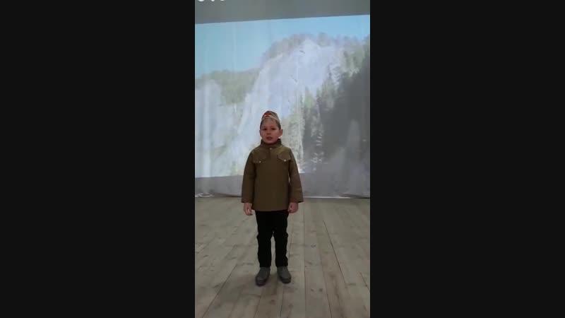 Читаем М. Карима: Ирназаров Динислам, 6 лет.