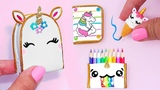 DIY Miniature UNICORN School Supplies ( Backpack, Notebook, Pen, Pencil case) REALLY WORKS