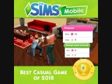 Thank you GooglePlay for choosing The Sims Mobile as Best Casual Game of 2018!