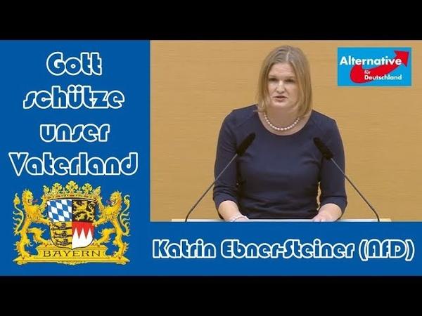 🥰 Klasse Rede von Katrin Ebner-Steiner (AfD) im bayer. Landtag: Hält den Altparteien den Spiegel vor