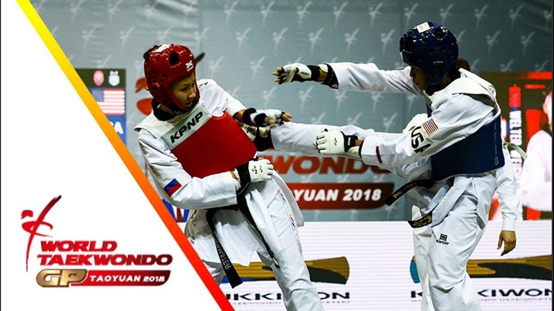 Taoyuan 2018 World Taekwondo GP Final female 67kg Paige MC PHERSON USA vs Polina KHAN RUS