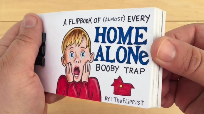 Home Alone Flipbook Every Booby Trap Compilation (surprise ending)