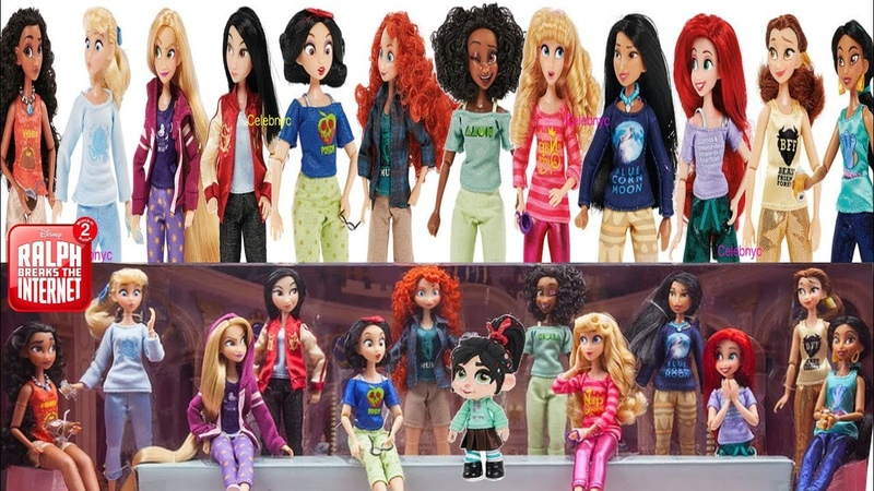 Princesses from Ralph Breaks the Internet Doll Review Rapunzel Ariel Belle: Unbox daily