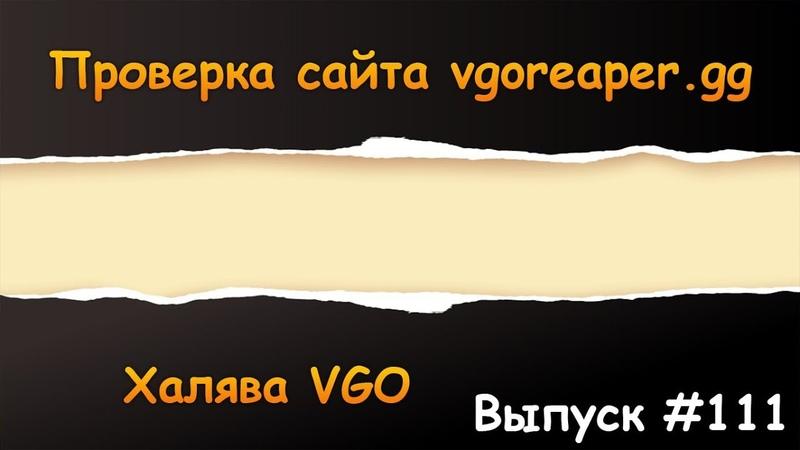 Проверка вывода vgoreaper.gg | Халява VGO 111