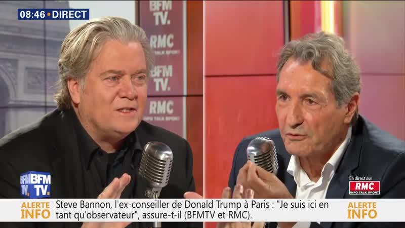 Steve Bannon face a Jean-Jacques Bourdin en direct