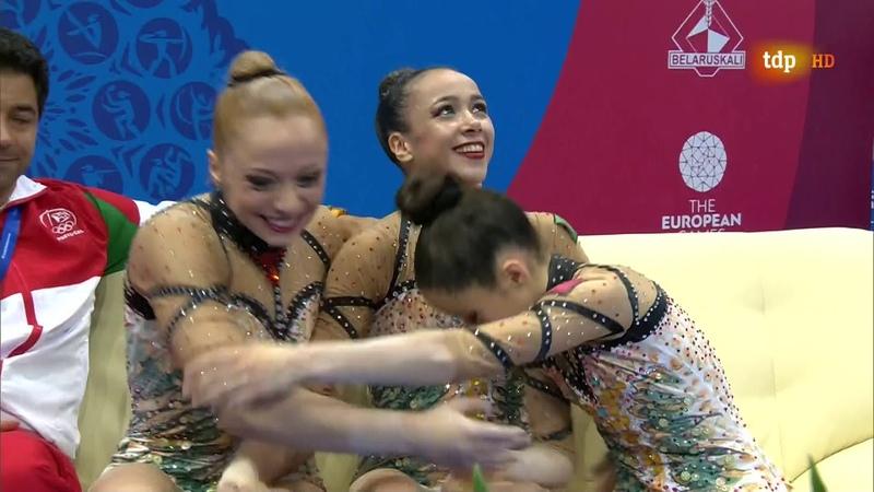 Acrobatic Gymnastics. 2019 European Games. Women's Group. Dynamic (incomplete)