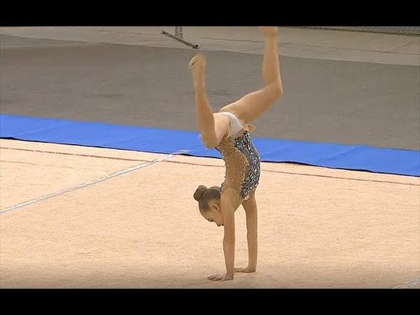 Дикарева Даниэла 2010 обруч Rhythmic gymnastics