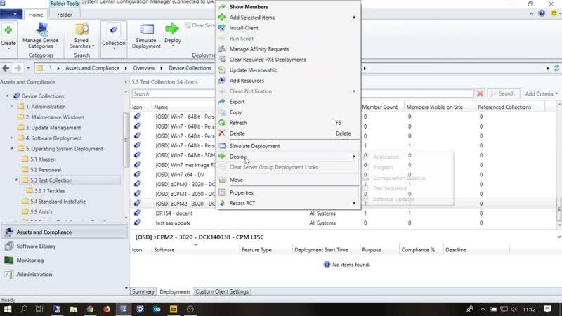 SCCM 01 Copy Edit Deploy Task Sequence LTSC Office 2019 SW test