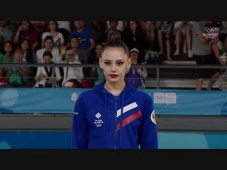 Дарья Трубникова, художественная гимнастика. Награждение золотой медалью Юношеских Олимпийских игр #БуэносАйрес2018