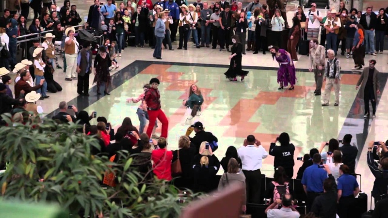 Denver International Airport Halloween Zombie Thriller Flash Mob 2013