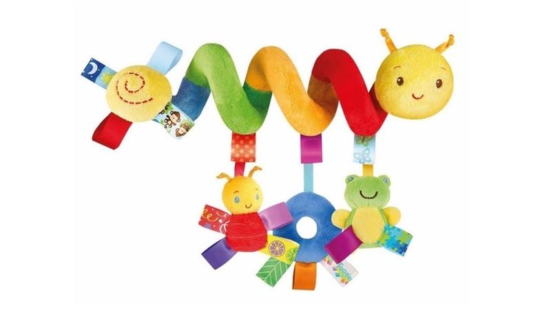 Детская игрушка-погремушка ГУСЕНИЦА в кроватку или на коляску! Childrens toy - Caterpillar.