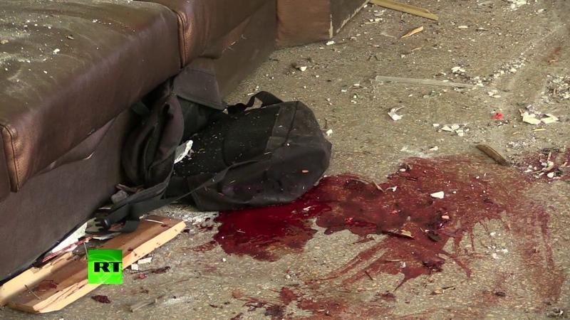 Выбитые стёкла и брошенные в панике вещи видео из керченского колледжа после нападения