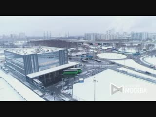 Вид с коптера на международный автовокзал «Северные ворота»