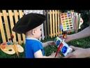 Кирилл рисует картину не хуже, чем Леонардо да Винчи. Видео для детей. VLOG.