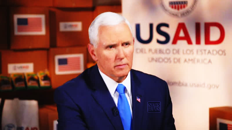 Mike Pence Personally Delivers US Aid To Venezuela