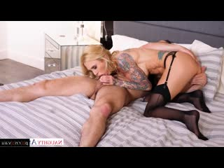 Damon dice & sarah jessie [ blondes &  big boobs / pussy , tattoo , shaved , riding dick , cumshot on chest , boobs , milkings]