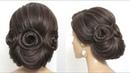 Trendy Bridal Updo Wedding Hairstyle For Long Medium Hair Tutorial