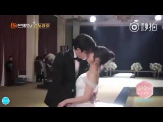 Видео со съёмок поцелуя дорамы «Сад падающих звёзд»