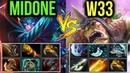 W33 Alchemist vs MidOne Phantom Assassin - EPIC Megacreep Comeback