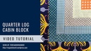 Quarter log cabin quilt block - Mysteries Down Under quilt