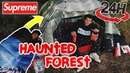 Overnight challenge in Haunted Forest in Supreme Tent (HYPEBEAST STYLE)