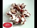 МК Интересный цветок канзаши Цветы из лент DIY Ribbon flowers