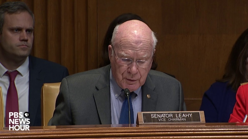 WATCH: 'Nothing in the law' prevents full Mueller report release, Sen. Leahy tells Barr