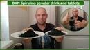 Spirulina powder and Spirulina tablets: DXN product tasting home alone